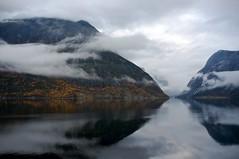 Simadalsfjorden (Kjell-Arne) Tags: norway fog day