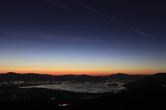 Hometown (ChrisBrn) Tags: light lake mountains twilight europe dusk greece ioannina arcturus