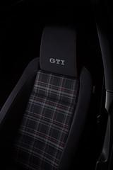 VW Golf GTI Mk6 Interior (The T-Man) Tags: black vw dark golf volkswagen interior seat turbo gti plaid speedlight sleek strobist