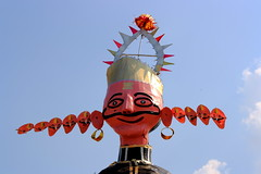 """ Happy Dusherra"" In India on 24th Oct.2012 (Rambonp love's all t) Tags: wallpaper sky india festival canon victory ritual chandigarh effigy dussehra hindus vijyadashmi"