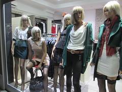 Tan blonde mannequins, Ohrid, Macedonia (Paul McClure DC) Tags: mannequin macedonia ohrid shopwindow balkans oct2012