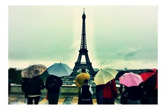 tower beauty rain umbrella eiffel poetic mobilephone... (Photo: #mr. X on Flickr)