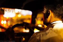 Taxi driver driving through the streets at night, Mumbai, India (October 2012) (Cor Lems) Tags: light india night lights taxi bombay driver maharashtra mumbai