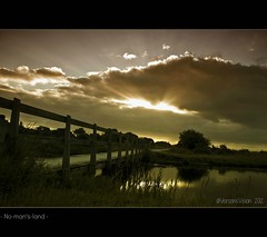 - No-man's-land - (Veronica Van Peet | Photography) Tags: bridge sky holland nature netherlands sunrise fence landscape island landscapes early nikon ditch september sunrays nomansland allrightsreserved schiermonnikoog 2012 magicmoment earlyinthemorning summersky earlyhours kobbeduinen flickrbest nikond90 veronicavanpeet veroonsvision fotovideonu wwwveronicavanpeetnl wwwfacebookcomveroonsvision