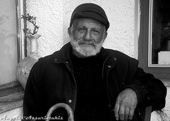 - , Mr Nikos - Anopoli Crete (angelobike) Tags: old man greece crete eikones elladas