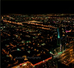through a camera- Day3/365 (Min9ahil) Tags: world life above city houses streets tower cars architecture modern night buildings dark landscape photography lights high amazing view desert live small capital malls kingdom east camel arab tiny saudi arabia land blocks tall alive roads middle riyadh far metropolitan height lively ksa captivating enchanting kingdomtower mesmerizing alfaisaliah min9ahils