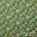 Vintage sheet - green/yellow floral