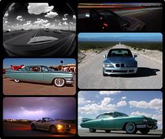 Cars (Capital I) Tags: clouds nightshot desert convertible seville cadillac eldorado fisheye bmw lightning z3 longroad collageframes collageframesapp