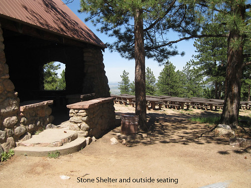 Photo - Seating outside the Stone Shelter
