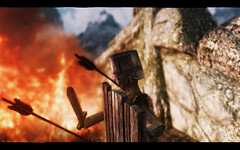 Bravery (modd3r86) Tags: fire dragon graphic magic breath videogames fantasy combat skyrim whiterun