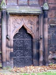 Ogee Door - Nov 2009 (DizDiz) Tags: door england cheshire nantwich olympusc720uz quatrefoils