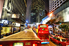 Hong Kong (neimon2 (too busy, sorry for my temporary silence)) Tags: china light bus architecture night asia hong kong sparkling hdr queensroad neimon2