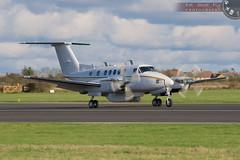 Test flight over (Adrian Court LRPS) Tags: airport aircraft beechcraft turboprop airfield cranfield kingair bizjet be20 bizjets egtc n509mv beech200superkingair bb877