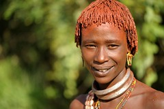 Bashada second wife with clay and butter in her hair, Omo River Valley, Ethiopia (christophe_cerisier) Tags: africa woman traditional clothes valley tribes omovalley ethiopia tribe tribu riftvalley omo rift greatriftvalley traditionalclothes omoriver omorivervalley tribewoman
