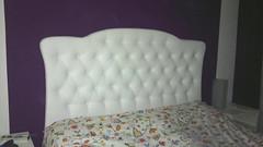 Cabecero de cliente Ref. 137 blanco (cabecerosdecama) Tags: cama habitación muebles dormitorio complementos decoración interiorismo cabecero cabezal tapizado