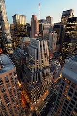 Late Afternoon over Midtown Manhattan, New York City (newyork463) Tags: nyc newyorkcity roof newyork rooftop skyline cityscape manhattan broadway rockefellercenter wideangle tokina1224 midtown dreamhotel colorefex nikoncapturenx nikond90