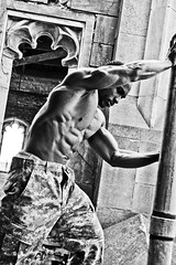 Pro Bodybuilder Jeremy Coleman (RickDrew) Tags: light shadow man black building guy abandoned back muscle decay ripped super strong shorts hulk mass bodybuilder biceps abs leggs urbex lats jeremycoleman