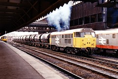 31199 Manchester Victoria 1988 (jonf45 - 5 million views -Thank you) Tags: logo manchester grey br large rail trains victoria class british 31 railways 31199