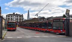 Waterloo Garage (KLTP14) Tags: goahead london mercedes citaro waterloo redarrow electric lineup garage