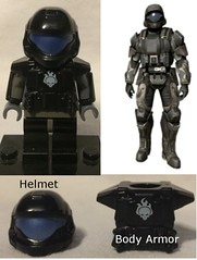Shock Trooper Helmet, and Armor (Mike-1911) Tags: brickforge odst xbox 343industries halo lego