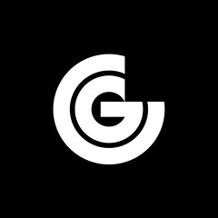 Graphic Centre by Robert Geisser, 1968 (inspiration_de) Tags: blackandwhite bold identity logodesign negativespace