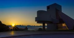 Lake Erie Sunset (Yaecker Photography) Tags: sunset sunsets wanderlust travel goldenhour sky bluehour lake water lakeerie ohio cleveland museum rockhall lens lensflare midwest rockrollhalloffame lakefront