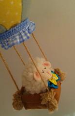 MBILE DE BERO OVELHA-OVELHINHA MENINO (Eliza de Castro) Tags: mobile mobiledeberoovelhinhamenino mbiledebero menino creme cinza e amarelo turquesa balo ovelhinha ovelha elo7 lao po xadrez bebe
