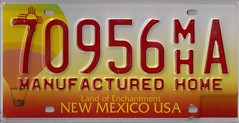 70956m'hA (JohnathanBaker) Tags: new mexico license plate manufactured home