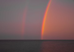 Double Rainbow (bjorbrei) Tags: rainbow rainbows sky atmosphere atmospheric ocean sea water horizon evening dusk