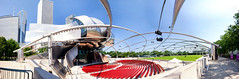 Jay Pritzker Pavilion and Great Lawn at Millenium Park (Diacritical) Tags: chicago greatlawn jaypritzkerpavilion millenniumpark panorama milleniumpark