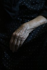 Hand that feeds (dzepni_oktavo) Tags: old age nana granny melancholy emotive portrait loneliness sorrow gesture hands veins skin