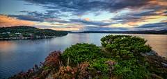 """Lindytn"", Norway (Vest der ute) Tags: g7x norway rogaland ryksund clouds seascape landscape houses fav25"