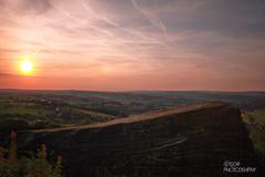 Sunsetting (Ashey1209) Tags: sun sunset timelapse long exposure landscape orange blue clouds sky rock westyorkshire yorkshire moor lindley