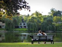 Romance on the river (yooperann) Tags: man woman ukulele fox river bench folk music valley love sweet illinois