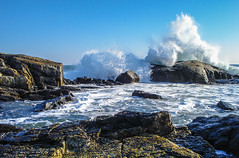 Crashing Wave (T.M.Peto) Tags: wave waves crashing crashingwave winter newhampshire coastline coast coastal rocks water landscape foam colorful beach shore shoreline horizon eastcoast getoutdoors getoutside outdoors sea rock ocean