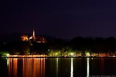 Ioannina lake by night (Rentoumis Phoography) Tags: lake night ioannina citylights greece