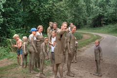 one big happy family (stevefge) Tags: berendonck family familyedition strongviking viking mud event reflectyourworld children kinderen kids girls boys mother father run summer candid