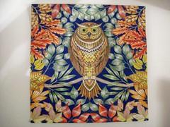 Owl (Lynne M. B.) Tags: coloringadults coloring coloringbook coloredpencils drawing art illustration secretgardencoloringbook johannabasford owl birds