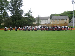 Massed Bands Departure (cessna152towser) Tags: kilt bagpipes pipeband cumnock