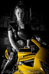 claire mc-11 (Trevor Matthews Photography) Tags: claire mcivor bike rock chick guitar motorbike suzuki daytona sexy girl hot naked nude topless trevor matthews suggestive speaker ibiza bar wigan model