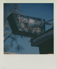 Waiting Room (DavidVonk) Tags: vintage instant analog film polaroid sx70 sonar impossibleproject neon neonsign ghost ghostneon ghostsign rusty