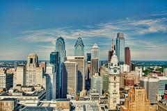 Philadelphia City Skyline (Kofla Olivieri) Tags: philadelphia cityhall downtown skyline koflaolivieri adobephotoshopelements topazadjust photomatixprohdr 33rd floor loews hotel