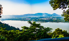 Panoramic shot of Guwahati City (srimoyphotoz) Tags: panorama river brahmaputra northeastindia guwahati assam hill color colorphotography wideformatphotography outdoor nature city greenery landscape