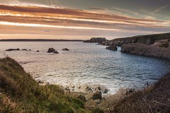 On The Rocks (garethleethomas) Tags: warm canon view sea rocks pembrokeshire coast bay sunset