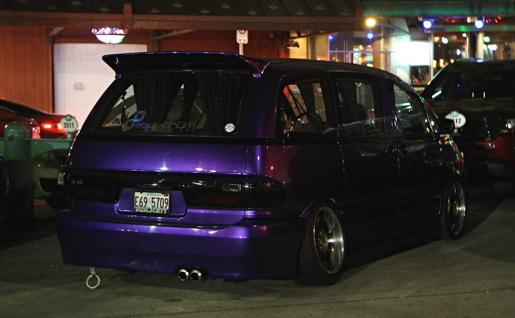 Toyota Previa SPV Automotive Tags Minivan Tuner Car Purple Stanced