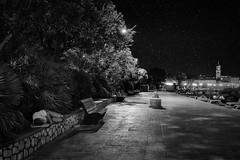 0376 Immanuel Kant (Hrvoje Simich - gaZZda) Tags: night sky stars street sleep boats church bench krk croatia monochrome nikon nikond750 nikkor283003556 hrvojesimich gazzda