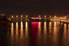 the Alexander Nevsky bridge () Tags: canon natgeo russia night vision bridge velikiy novgorod river volkhov