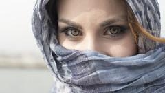 Rossella Chieli (elparison) Tags: face eyes pretty angel angelo occhi sole oriental burkini shahrazd tuareg