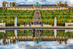 Reflections of Sans Souci... (Howard Brown Photographic) Tags: reflections reflection potsdam germany palace sanssouci sans souci hdr