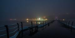 DSC00341 (adam_reynolds) Tags: saltburn pier beach fog foggy mist misty longexposure long exposure night